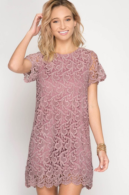 First Class Shift Dress: Dusty Rose
