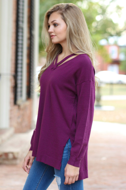 Divine Travels Tunic: Berry
