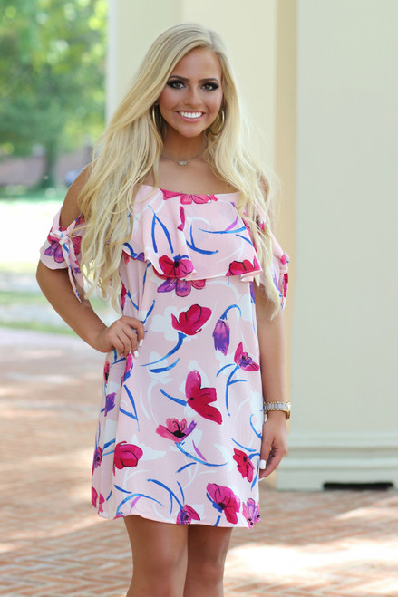 Paradise Shift Dress: Pink