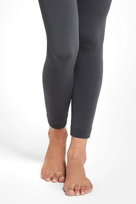 Fleece Lined Leggings: Charcoal