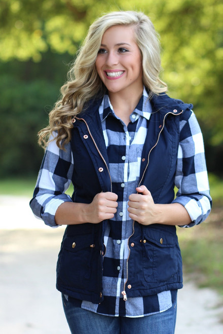 Misty Mountain Vest: Navy