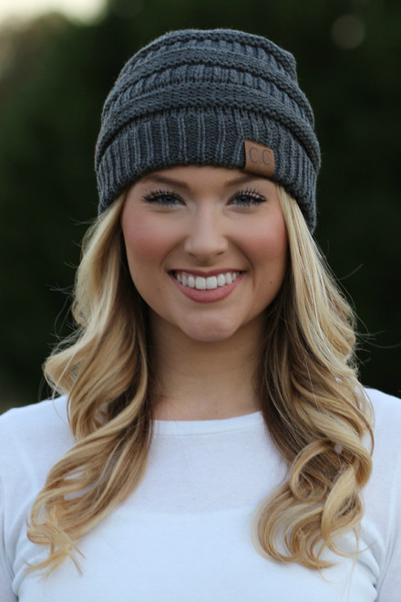 Chilly Day Beanie: Charcoal