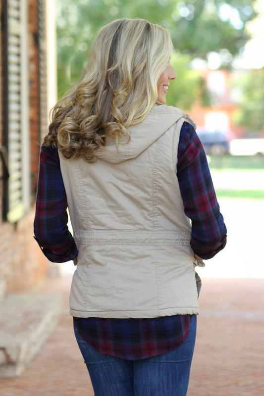 Misty Mountain Vest: Khaki