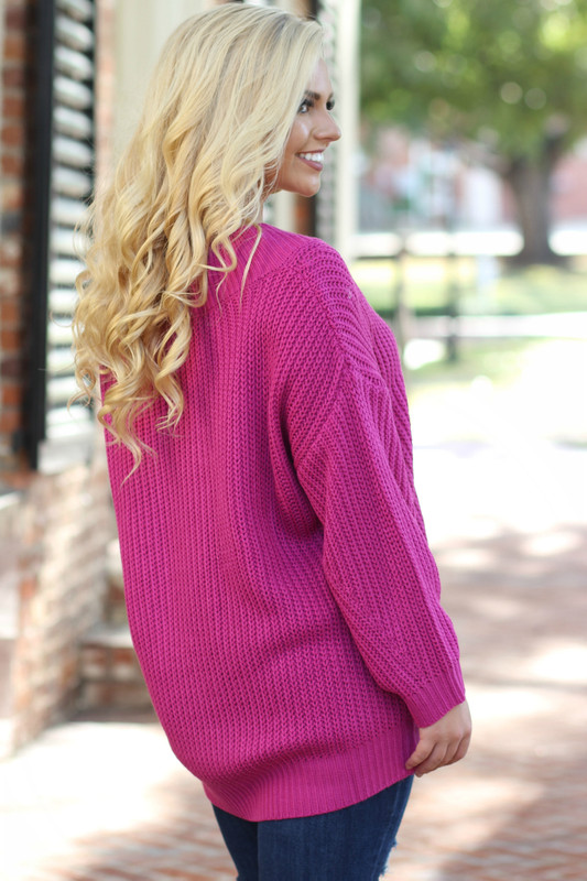 Current Obsession Sweater: Fuchsia
