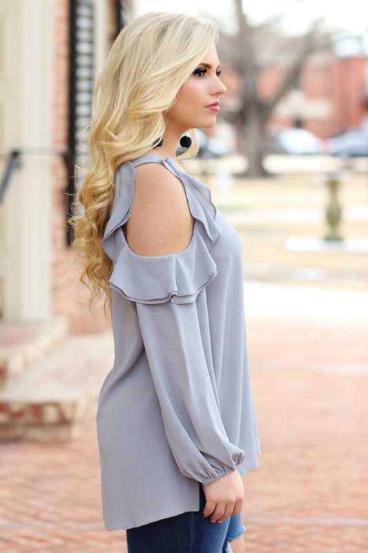 Perfect Bliss Shift Top: Grey