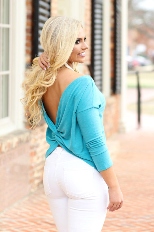 Twist Of Fate Top: Teal