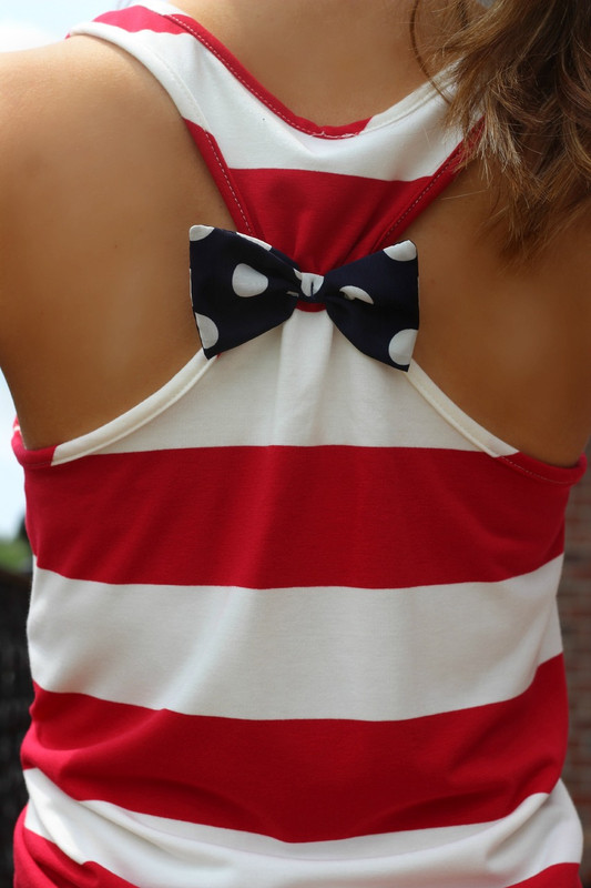 {Preorder} America Tank Top: Red/White/Navy