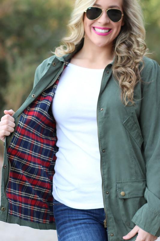 Seasons Change Jacket: Olive