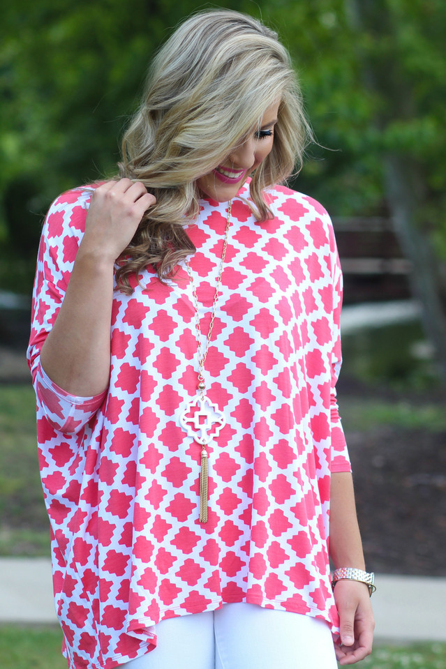 Beat Of My Heart Top: Coral