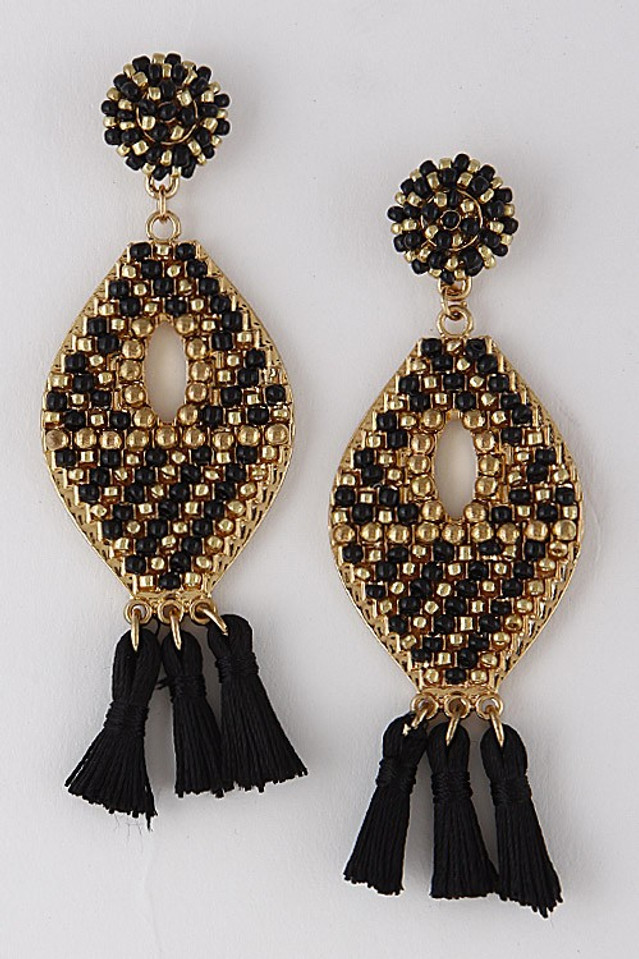 Top It Off Earrings: Black