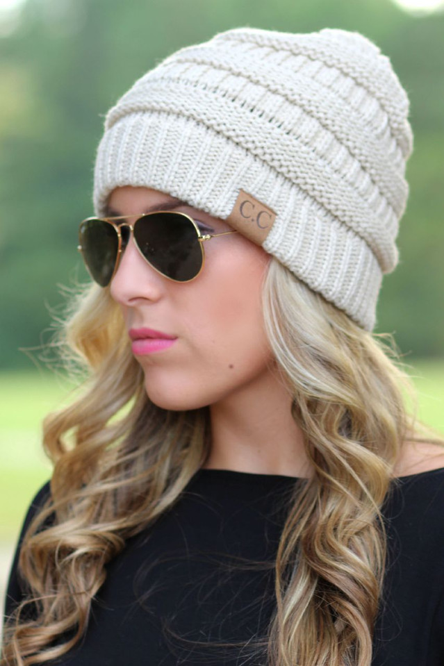 Chilly Day Beanie: Beige
