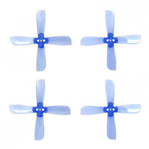 2035 - 4 Blade Bullnose - Blue PC (Set of 4)