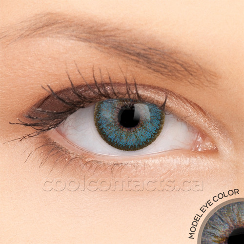 2 Tone Sky Blue Contact Lenses