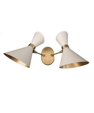 GC-021 - DAMAGED - White - PEGGY UP & DOWN TWIN WALL LAMP  - DA-335