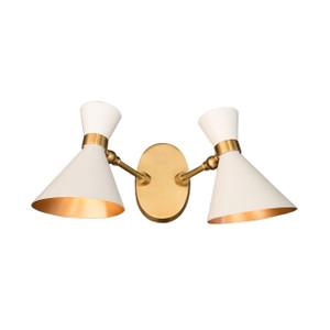 GC-020 - DAMAGED -  PEGGY TWIN WALL LAMP SMALL - White  - DA-342