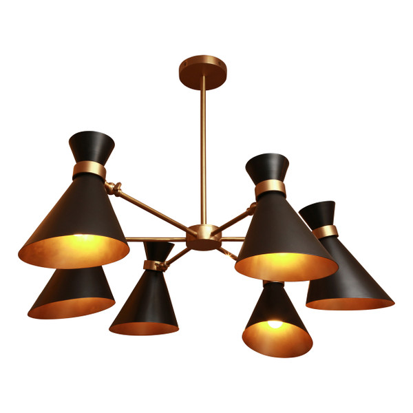 Gc 014 Peggy Six Shades Chandelier Gong