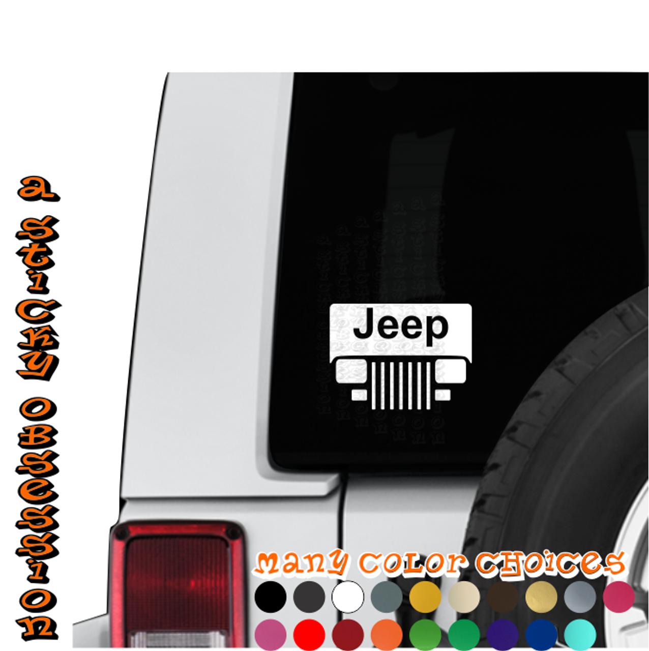 Jeep wrangler yj windshield decal on jeep