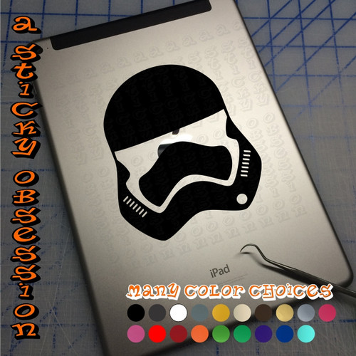 Star Wars Inspired First Order Stormtrooper Helmet Decal