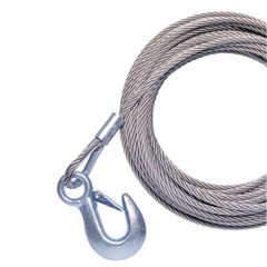 """Powerwinch 40' x 7/32"""" Replacement Galvanized Cable w/Hook f/RC30, RC23, 712A, 912, 915, T2400 & AP3500 [P7188800AJ]"""