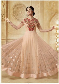 Ravishing  Peach Anarkali Salwar Kameez589New