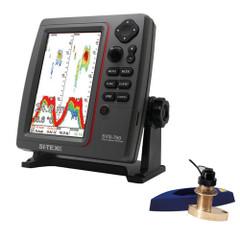 SI-TEX SVS-760 Dual Frequency Sounder 600W Kit w/Bronze Thru-Hull Speed & Temp Transducer [SVS-760TH2]
