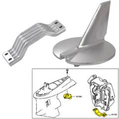 Tecnoseal Anode Kit w/Hardware - Yamaha 200-250HP - Aluminum [21104AL]