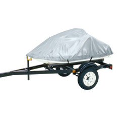 """Dallas Manufacturing Co. Polyester Personal Watercraft Cover A, Fits 2 Seater Model Up To 113""""L x 48""""W x 42""""H - Silver [BC1303A]"""