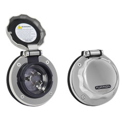 Furrion 30A Stainless Steel Round Inlet w/Powersmart LED [F30ITS-SS]