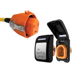 SmartPlug 30 Amp Non Metallic Black Inlet  Plug Combo - Boat  RV [B30ASSYPB]