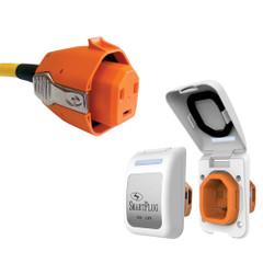 SmartPlug30 Amp Non Metallic White Inlet  Plug Combo - Boat  RV [B30ASSYPW]