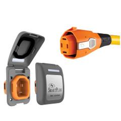 SmartPlug 50 Amp Non Metallic Gray Inlet  Plug Combo - Boat  RV [B50ASSYPG]