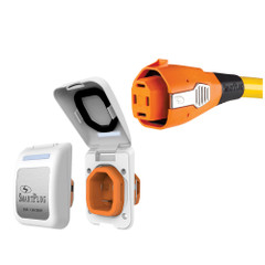 SmartPlug 50 Amp Connector & Non Metallic Inlet - White [B50ASSYPW]