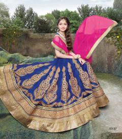 Fabulous Royal Blue Net Kids Lehenga Choli39
