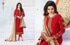 Fabulous Red Georgette Salwar Kameez1513