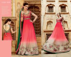 Awesome Pink Net Anarkali Salwar Kameez17