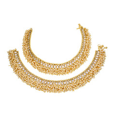 Fabulous Gold Plated Anklets2311