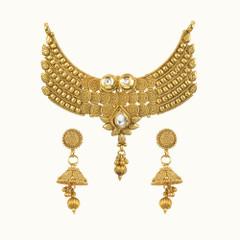 Amazing Gold Plated Kundan Work Mangal Sutra Set1174