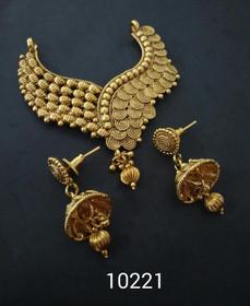 Amazing Gold Plated Heart Shape Mangal Sutra Set1175