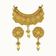 Amazing Gold Plated Floral Pattern Mangal Sutra Set1178