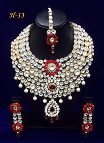 Amazing Heavy Stone work Necklace Set1583
