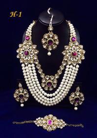 Amazing Heavy Stone work Necklace Set1590