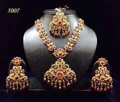 Stunning Gold Plated Heavy Necklace Set1951