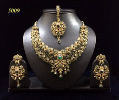Stunning Gold Plated Heavy Bridal Necklace Set1953