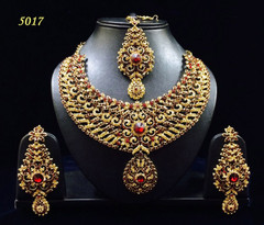 Stunning Gold Plated Heavy Wedding Necklace Set1961