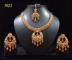 Stunning Gold Plated Heavy Necklace Set1966