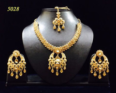 Stunning Gold Plated Heavy Necklace Set1972