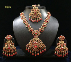 Stunning Gold Plated Heavy Necklace Set1974