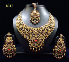 Stunning Gold Plated Bridal Wear Necklace Set1976