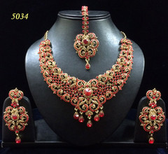 Stunning Gold Plated Heavy Necklace Set1977