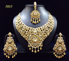 Stunning Gold Plated Sparkling Beauty Necklace Set1978